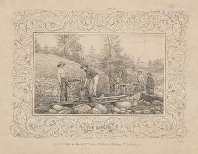 Californian goldminers - engraving