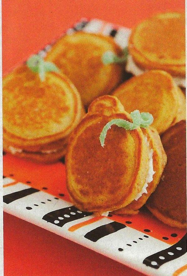 Pumpkin Pancakes Cream Cheese Sandwiches !
