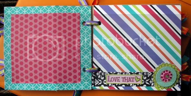 Lunch Bag Scrapbook Album {Breezy Pink Daisies}