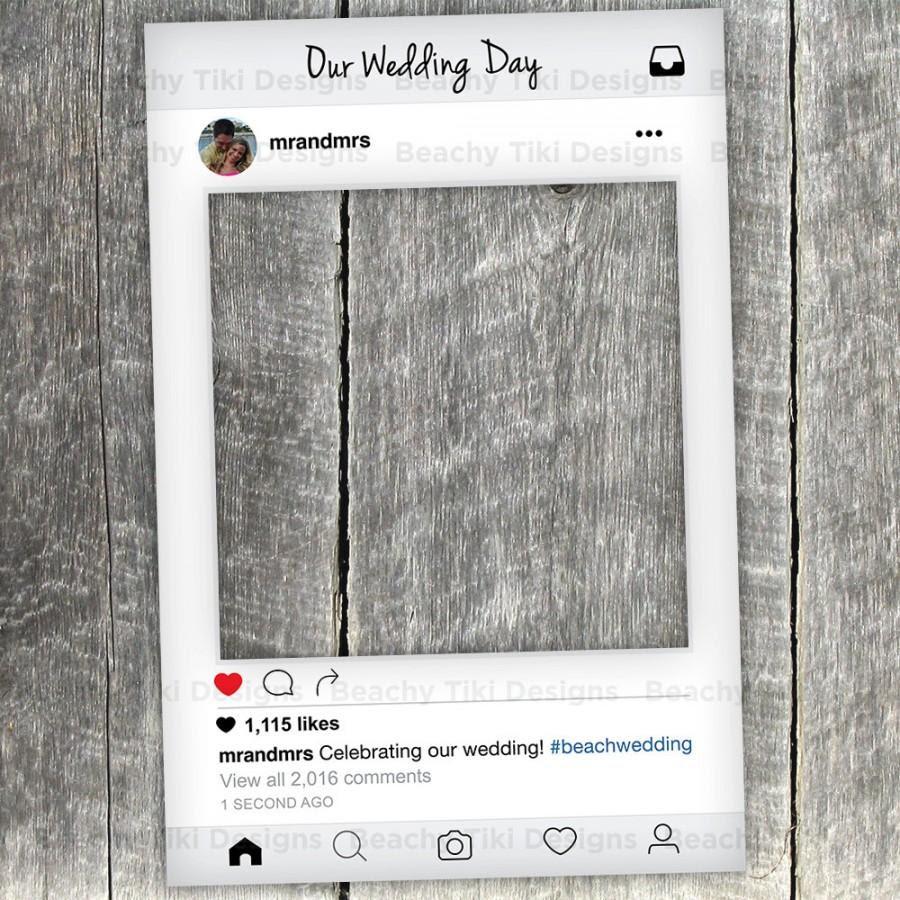 Instagram Cardboard Frame Diy Beautiful Instagram Booth Prop