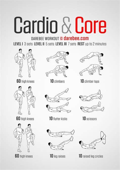 cardio core darebee workout exercises exercise