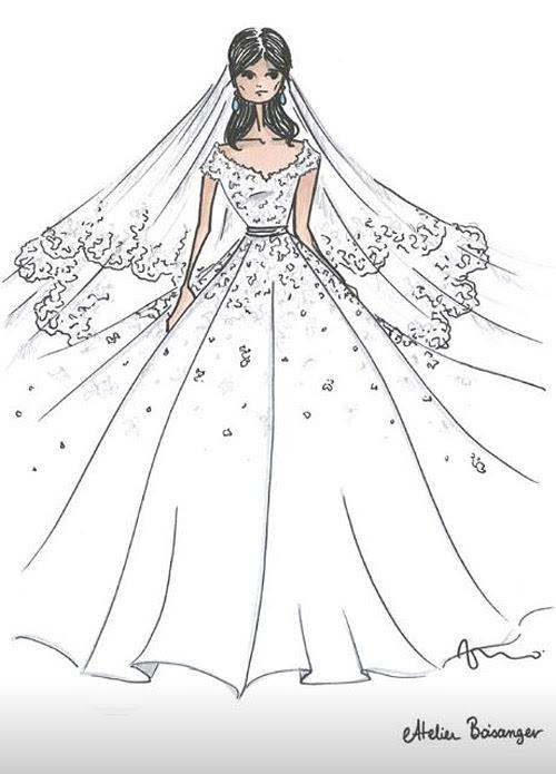 Mariage élégant Robe De Mariee Dessin