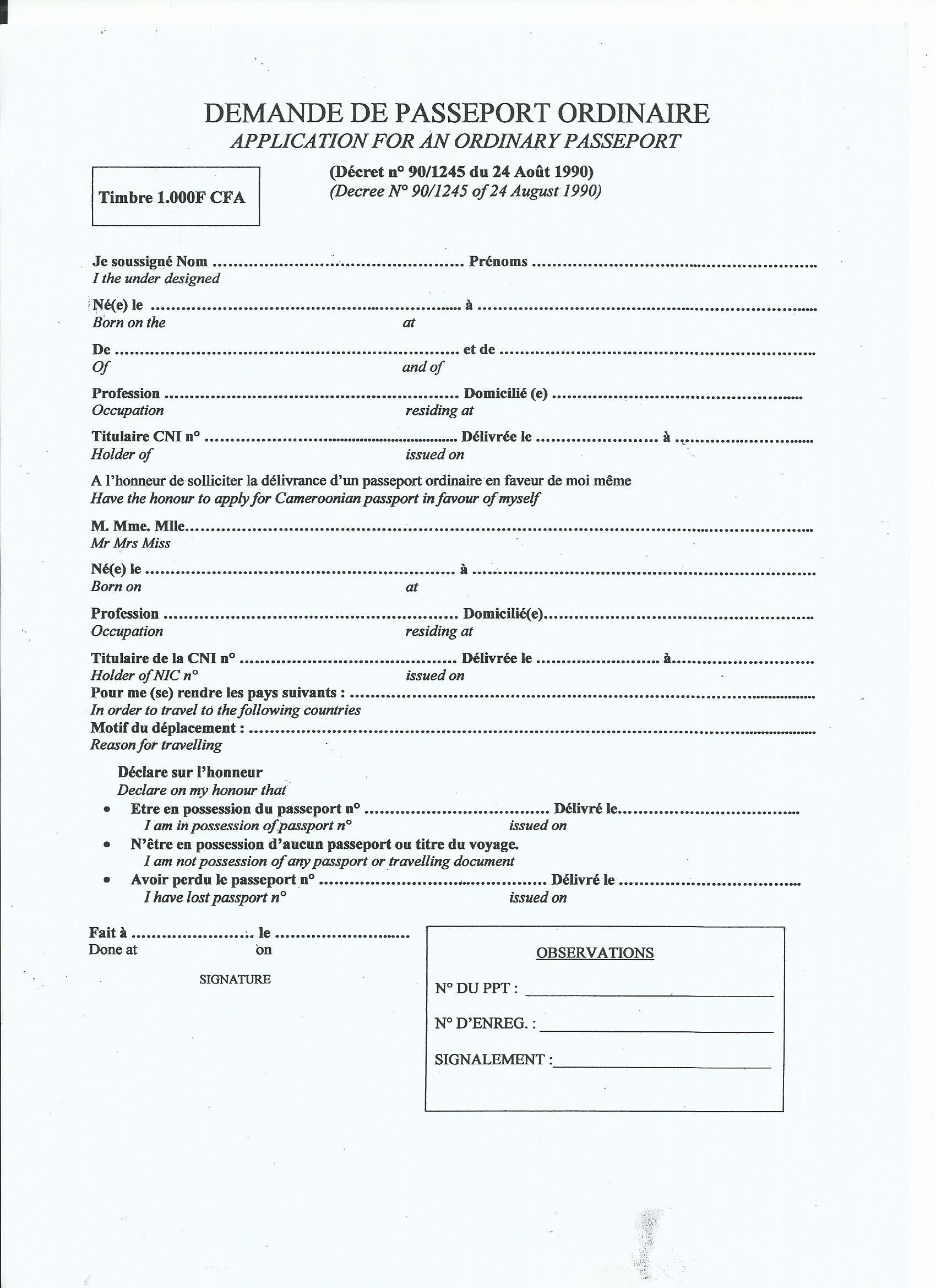 Form: NEW FORM NUMBER FOR PPORT RENEWAL on