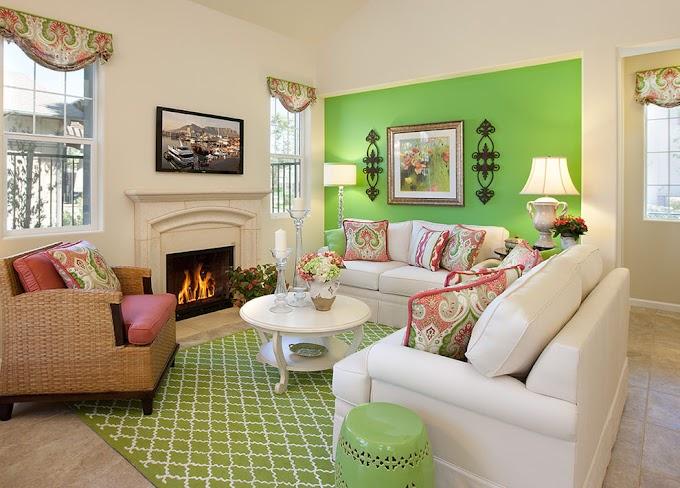 Popular Of Living Room Decorating Ideas Green Walls