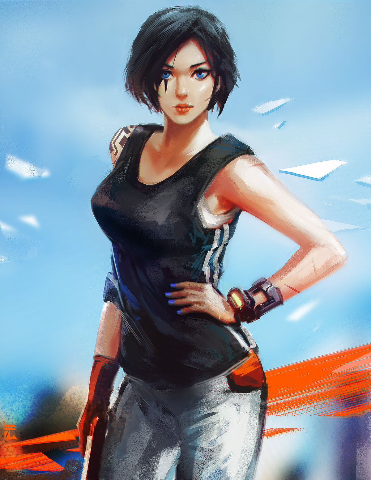Mirror's Edge Faith Connors by Yuan Cui