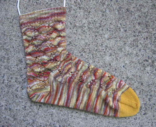 Spring Forward sock