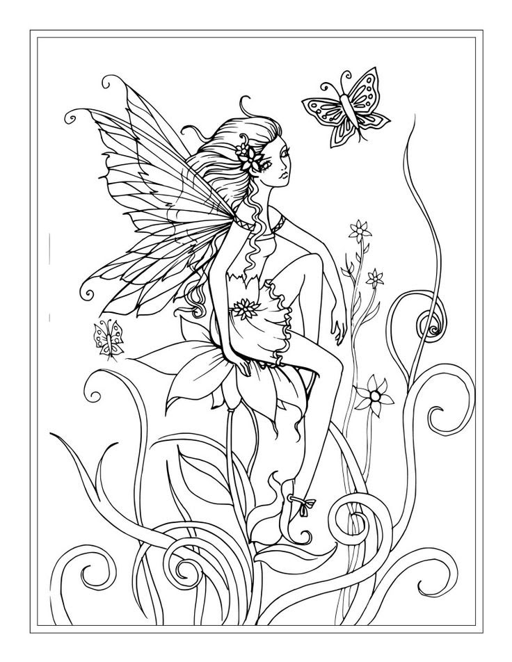 Advanced Fairy Coloring Pages at GetColorings.com | Free ...