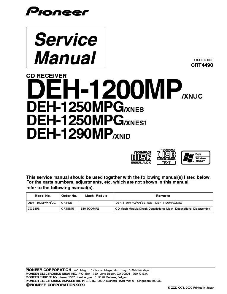 32 Pioneer Deh X65bt Wiring Diagram