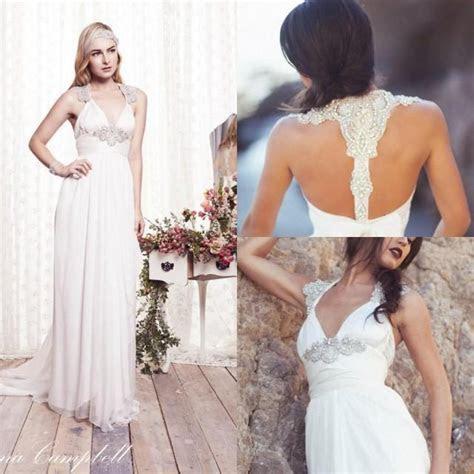 2015 Beach Wedding Dresses Chiffon Garden A Line Empire