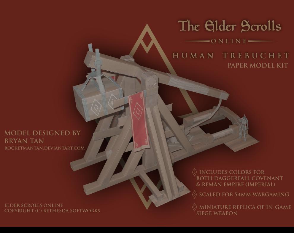 Edler Scrolls Online Trebuchet Papercraft
