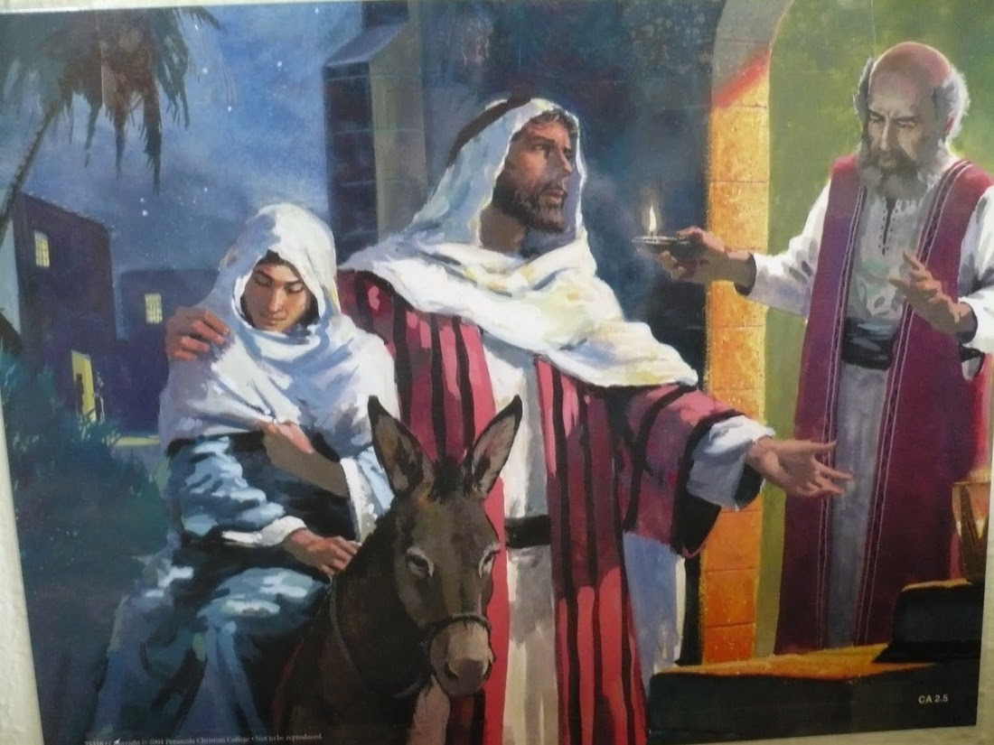 Image result for joseph and mary rejected by his family and friends in bethlehem