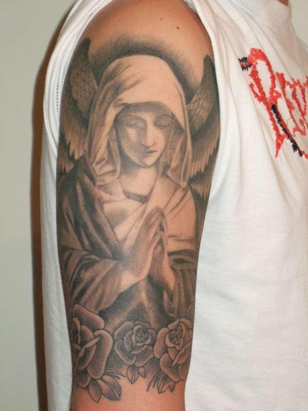 Angel Half Sleeve Tattoo
