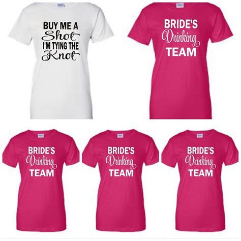 Buy Me A Shot, I'm Tying The Knot & Bride's Drinking Team