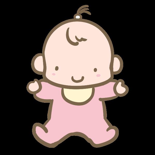 赤ちゃん女の子のイラスト かわいいフリー素材が無料のイラストレイン