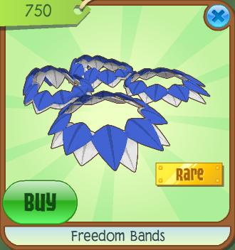 Image result for animal jam freedom bands