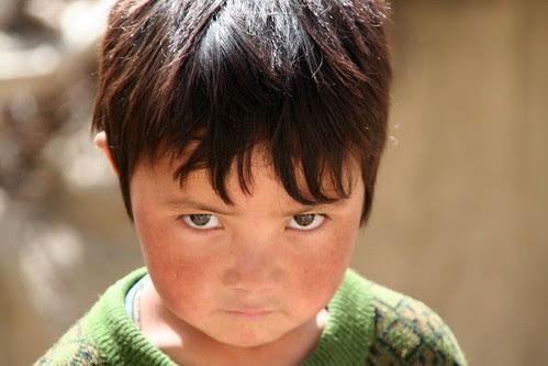 One child in Ladakh, India