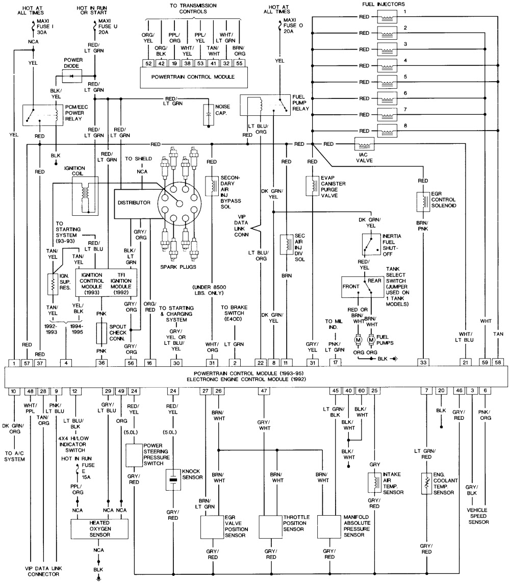 Electrical Wiring Diagram 1992 Ford