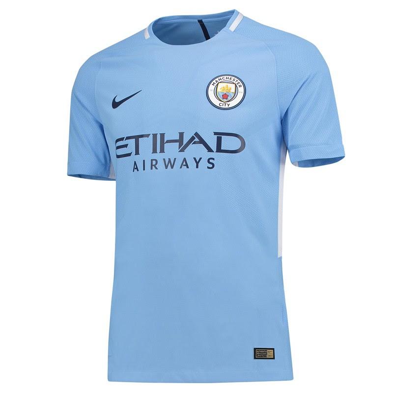 Manchester City Home Half Sleeve Away Jersey 2017-18 ...