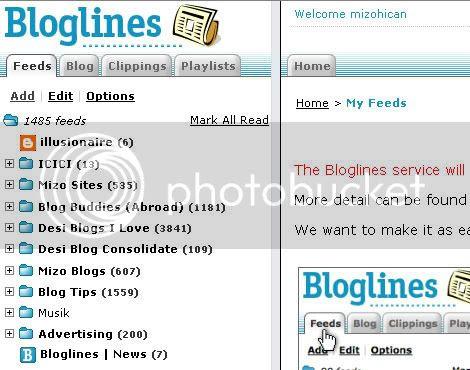 Bye Bye Bloglines
