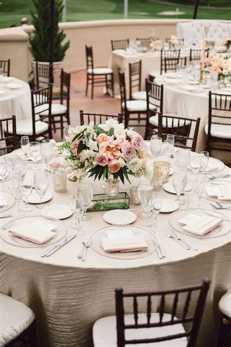 Blush and Champagne Reception   The dream wedding