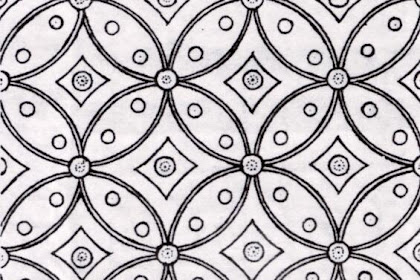 Gambar Batik Kawung Untuk Mewarnai