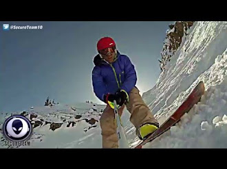 FULL - Video of Giant Cigar UFO Above Snowboarder! / OVNI Acecha a Snowboarder