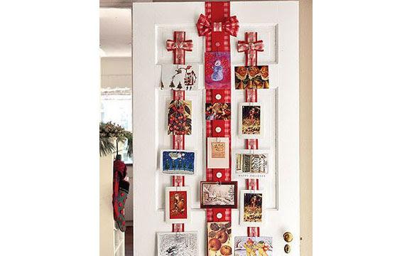 Cartões dão charme a porta de casa