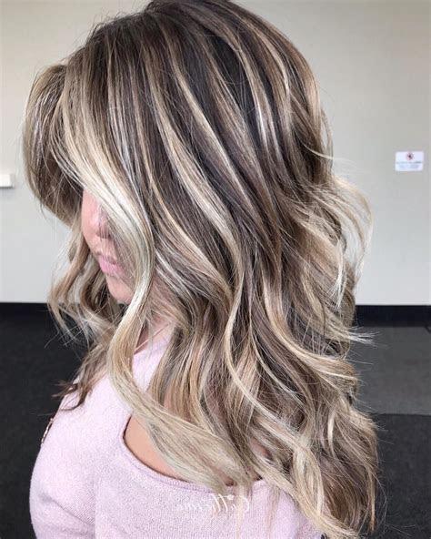 caramel highlights  dark brown hair  short