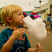 First Time Cotton Candy on a Stick