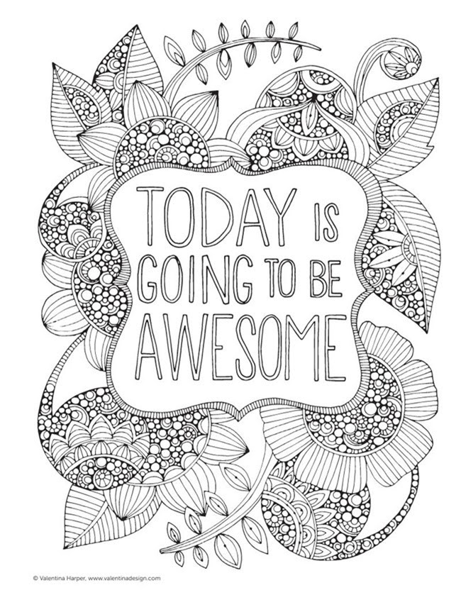 12 Inspiring Quote Coloring Pages for Adults\u2013Free Printables!