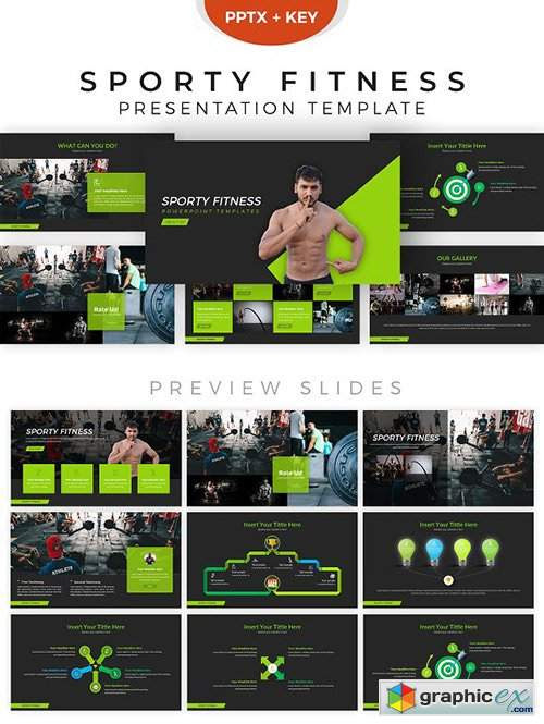 Fitness Powerpoint Template Free Download Vector Stock Image Photoshop Icon
