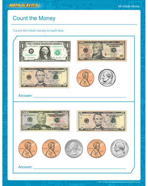 Count the Money – Free Printable Money Worksheet for 4th Grade ...