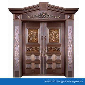Modern House Exterior Door Double Tempered Glass Pure Copper Door Villa Entry Front Door Design China Manufacturer