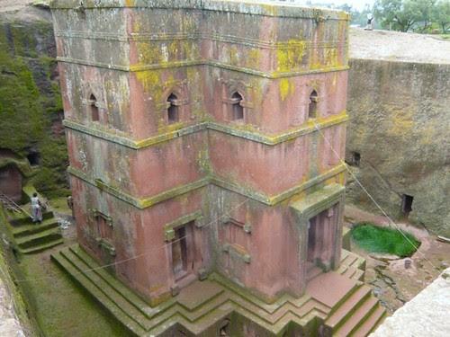 Lalibela, Ethiopia - Bet Giorgis, The church of St George