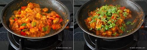 How to make kadai paneer step5