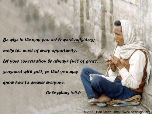 Inspirational illustration of Colossians 4:5-6