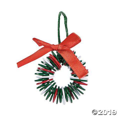 Button Wreath Christmas Ornament Craft Kit