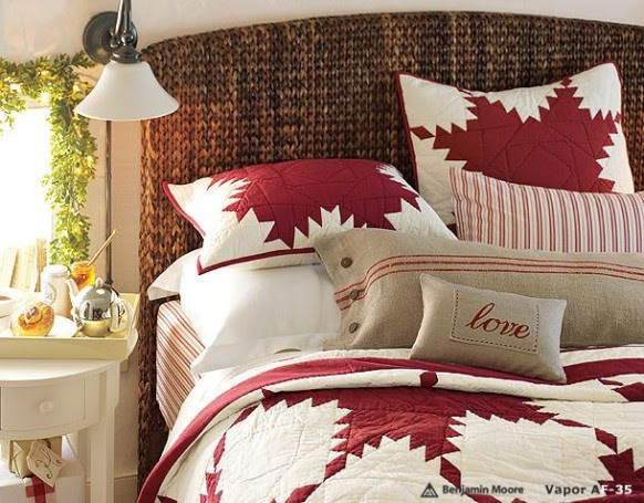 delightful bedroom for christmas