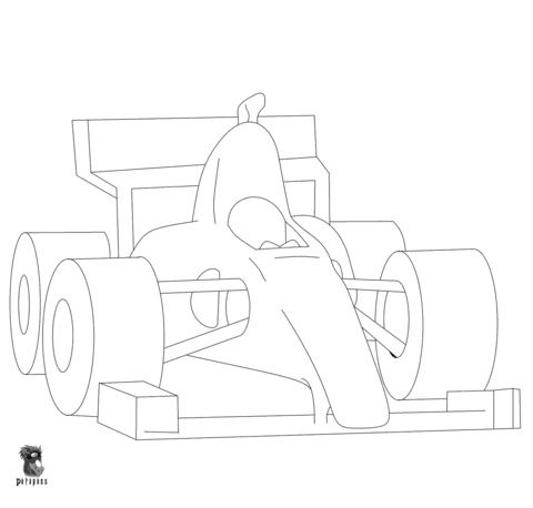 Disegno Di Auto Da F1 Da Colorare Disegni Da Colorare E Stampare