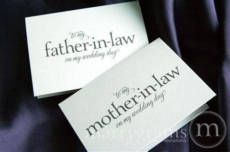 Wedding Card To Your Future Mother in Law And Father In
