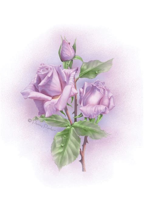 Violet Roses   Love Card (Free)   Greetings Island