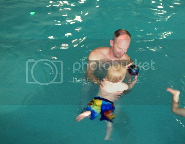 swimming with the ball