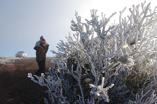 Temperatura em Urupema (SC)chegou a 4,2ºC negativos