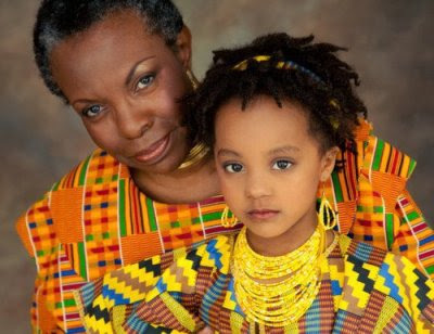Kente Mum And daughter