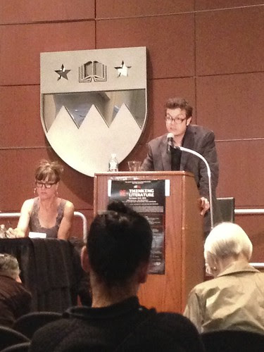 """At the """"Re-Thinking Literature"""" conference, NYU"""