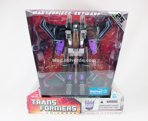Transformers Skywarp Masterpiece Universe - caja