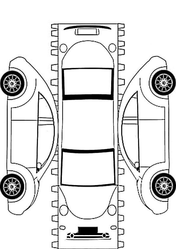 Ausmalbilder Ausschneiden Auto 6 Malen Nach Zahlen