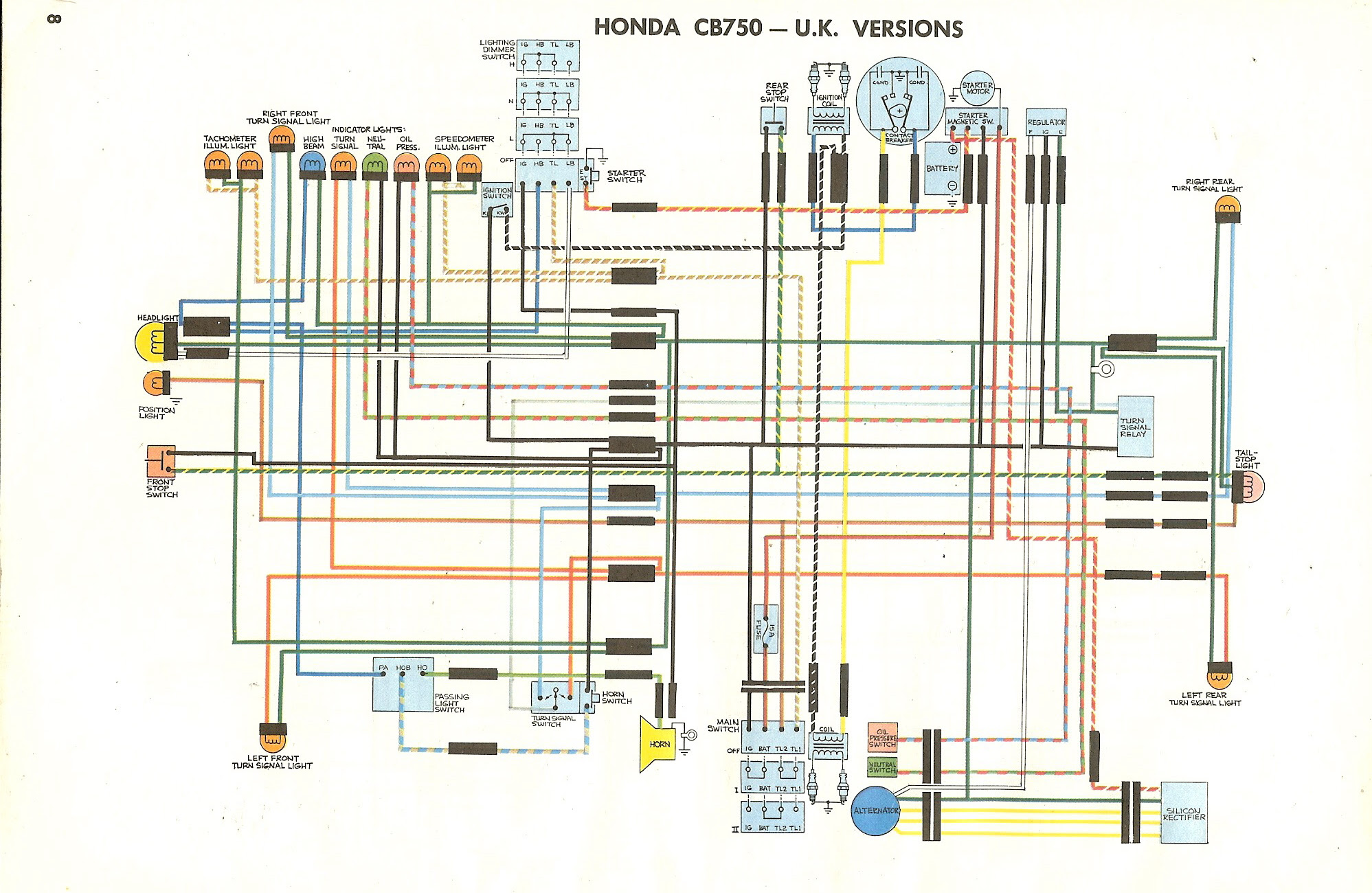1981 Cb 750 C Honda Wiring Diagram