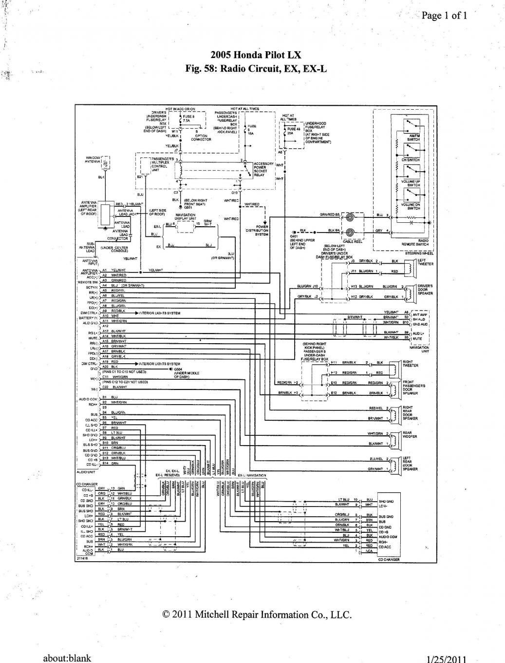 2004 Chrysler Pacifica Radio Wiring Diagram