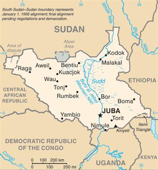 South_Sudan CIA_WFB_Map